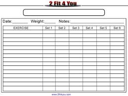 Weightlifting Log Weight Lifting Log Sheet Abs Workout