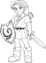 Link Sword Coloring Pages Coloring Pages Link Link Coloring Pages