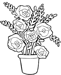 You can print it and color together with your kids. Printable Roses Picture To Color