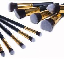 eyebrow brushes kit. pro 10pcs makeup cosmetic blush brush eyebrow foundation powder brushes kit set