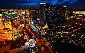 Aerial View Las Vegas Strip Nevada Stock Photo               The Las Vegas Strip is famous for its over the top hotels  top tier  celebrity entertainers and bustling casinos and nightclubs