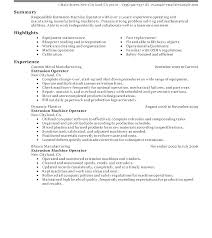 Machinist Resume Sample Operator Resume Sample Machine Operator ...