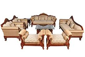 furniture design sofa. Plain Sofa Woodkartindia Royal Design Maharajah Look 7 Seater Sofa Set With Couch And  Center Table Brown With Furniture Amazonin