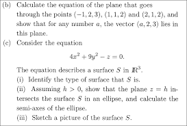 calculate the equation of the plane that goes thro