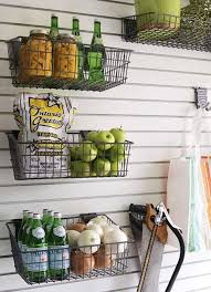 10 wall mounted wire baskets as storage