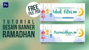 Desain Banner Tutorial Desain Banner Baliho Spanduk Hari Raya Idul Fitri Ramadhan 2018 Tutorial Photoshop