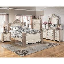charlinda poster bedroom set cavallino queen storage bedroom set ashley furniture