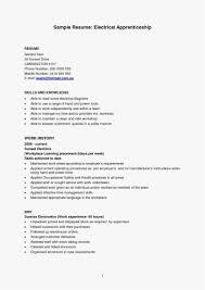 29 Electrician Apprentice Resume Example Best Resume Templates