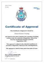 diploma certificate course in security and risk management  cert of approval security cert of approval firearms no 52 2015 dated 14 05 2015 page 2