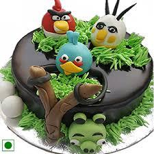 Beautiful angry bird cake