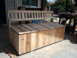 diy outdoor bench seat with storage pallet outdoor bench with storage box build outdoor bench seat