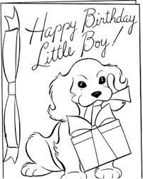 Small Picture Birthdays Happy Birthday Boy Coloring Page Happy Birthday