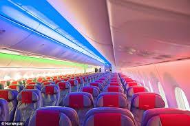 modern all of norwegian s transatlantic flights are on new 787 dreamliner planes which boast large