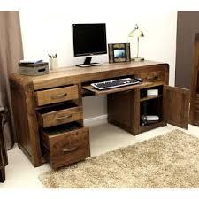 office desk walnut. Baumhaus Shiro Walnut Twin Pedestal Home Office Desk