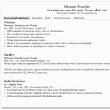custom online profile builder resume