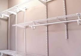 closetmaid shelving adjule installation instructions maximum load 20 shelftrack brackets