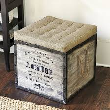 Burlap Seat Storage Ottoman: now available at ballarddesigns.com