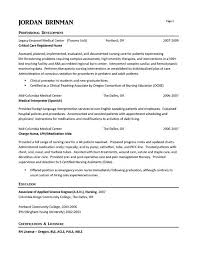 Critical Care Nurse Job Description Resume Best of ER Nurse Resume Example Pinterest Resume Examples Registered