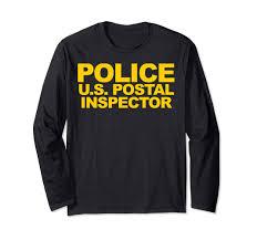 Amazon Com U S Postal Police Shirt Front Print Law