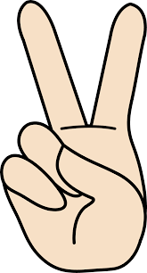 Image result for peace hand sign