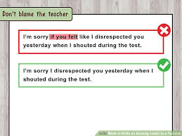 Sample Apology Letter For Being Late Adorable How To Write An Apology Letter To A Teacher With Pictures