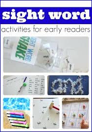 Preschool Sight Words Activities Free Printable Sight Word Cards ...