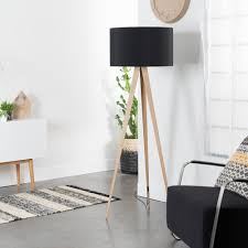 Zuiver Tripod Wood Lamp Driepoot Hout Stalamp Home Stock