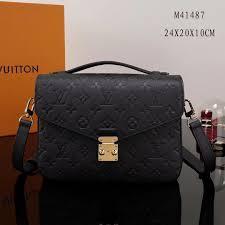 lv louis vuitton pochette metis shoulder m41487 monogram leather handbags bags black