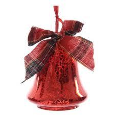Weihnachtsglocke In Rot Aus Glas