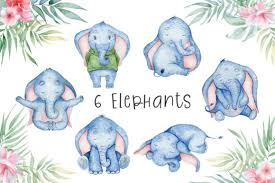 Tusker elephant walking to the water. Lovely Elephants Watercolor Set Animals Graphic By Evgeniiasart Creative Fabrica