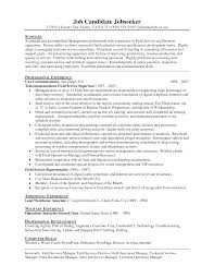 Job Winning Field Technician Resume Example Featuring Professional