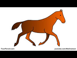 Small Picture 013 How to draw a Horse for kids step by step drawing YouTube