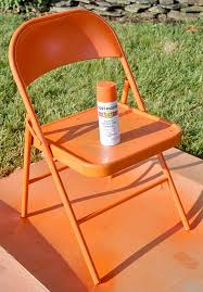 spray painting metal furnitureSpray Painted Metal Folding Chairs I have two old chairs I need