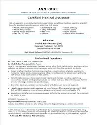 Medical Assistant Resume Template Free Impressive Resume Now Certified Medical Assistant Sample For A Letsdeliverco