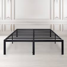 GranRest 14'' Dura Metal Bed Frame with Non-Slip Feature,Queen ...