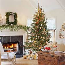 Living Room Decorating For Christmas Interior Top Notch Decorating Christmas With Stone Tile Wall And