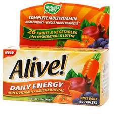 <b>Alive</b>! <b>Daily Energy</b> Multivitamin 60 ea - Walmart.com - Walmart.com