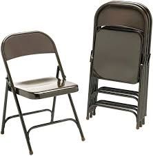 black metal folding chairs. Amazon.com: Virco 16213K Metal Folding Chairs, Bronze, Four/carton: Kitchen \u0026 Dining Black Chairs L