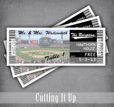 Baseball Wedding Ticket Place Cards Baseball Place Cards