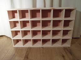 handmade wooden pigeon hole unit small compartment shelf storage unit