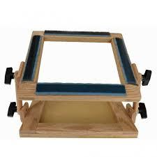 folding travel rug hooking frame