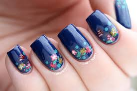 Manicurity: Teeny Tiny Flowery Half-Moon Nails