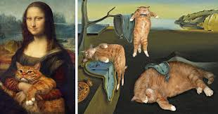 fat cat art i insert my ginger cat into famous paintings