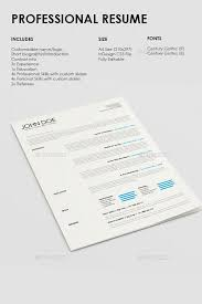 Professional Fonts For Resume Enchanting Simple Professional Resume Template Pinterest Professional