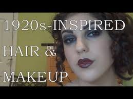 1920s inspired makeup tutorial and hairstyle for long hair