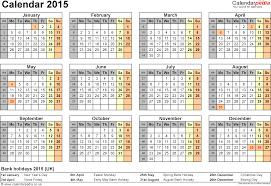 2015 calendar template microsoft excel calendar template