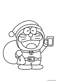 Learn and enjoy coloring activity. Printable S Christmas Santa Doraemon51b7 Coloring Pages Printable