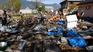 Image result for tsunami gempa di palu