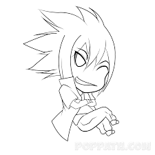 step 8 you are now all done be sure to erase previous guidelines and get to coloring your chibi anime style sitting boy