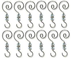 Ornament Hooks - 12 Pack - Decorative Christmas Tree Ornament Hangers